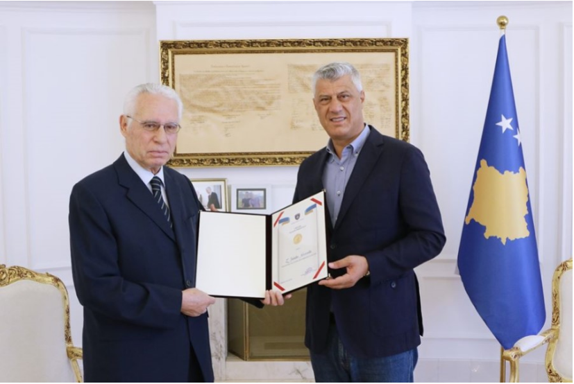 "The order ""Hasan Prishtina"" is awarded to Selatin Novosella"