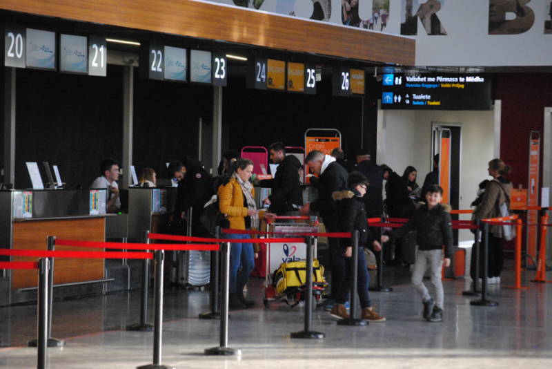 The influx of passengers at Prishtina Airport has increased due to the Eid holiday
