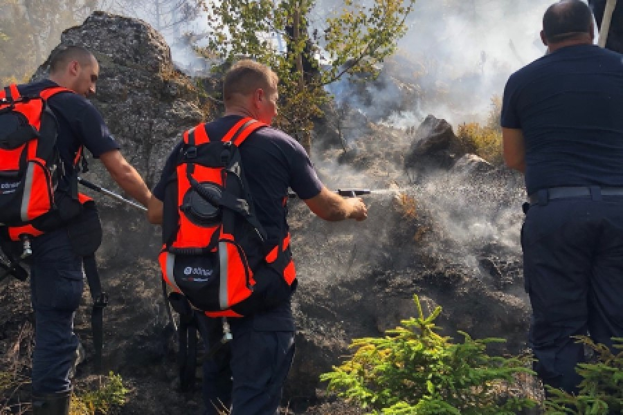 Fires, the worst situation in the Accursed Mountains