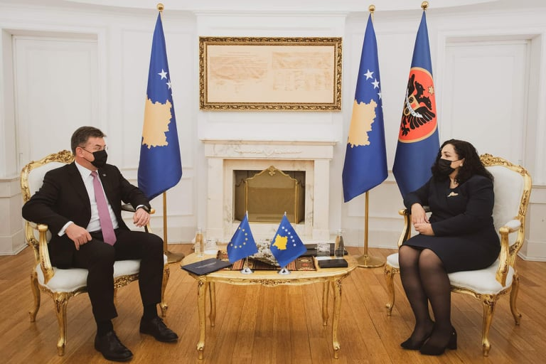 Osmani meets with Lajcak: The dialogue should end with mutual recognition between Kosovo and Serbia
